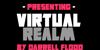 Virtual Realm Font poster design