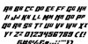 Whiskey Bravo Victor Font Letters Charmap