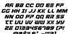Defcon Zero Italic Font Letters Charmap