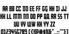 Rockledge Font Letters Charmap