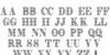 Zengo Demo Font Letters Charmap