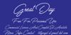 Great Day Personal Use Font handwriting blackboard
