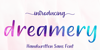 212 Dreamery Sans Demo Font poster