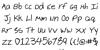 Cheyenne Hand Bold Font Letters Charmap