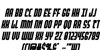 Peace & Houston Extra Bold Ita Font Letters Charmap