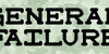 General Failure Font tableware plate