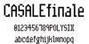 CasaleFinale NBP Font screenshot graphic