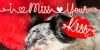 I Miss Your Kiss Font dog indoor