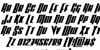 Vindicator Italic Font Letters Charmap