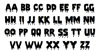 Pieces NFI Font Letters Charmap