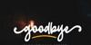 goodbye Font poster