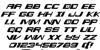 Interdiction Italic Font Letters Charmap