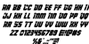 Army Rangers Italic Font Letters Charmap