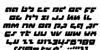 Boomstick Italic Font Letters Charmap