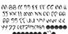 Dark past Font Letters Charmap