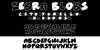 ZeBrA bLoBs Font poster screenshot