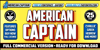 American Captain Font text poster