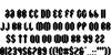 Swiggity Font Letters Charmap