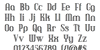 Debonair Inline NF Font Letters Charmap
