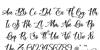 Easy November Font Letters Charmap