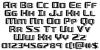 Grease Gun Regular Font Letters Charmap