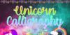 Unicorn Calligraphy Font design text