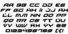 Battlefield Italic Font Letters Charmap