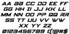 Spy Agency Italic Font Letters Charmap