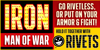 IRON MAN OF WAR Font text poster