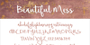 Beautiful Mess Font handwriting text