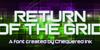 Return of the Grid Font screenshot green