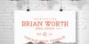 BRIAN WORTH Font snow design