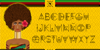 Zilap Africa Font cartoon screenshot