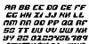 Replicant Italic Font Letters Charmap