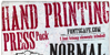 Hand Printing Press Stencil_dem Font text poster