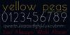 yellow peas demo Font design book
