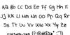 handwriting Font Letters Charmap