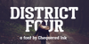 District Four Font poster book