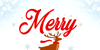 Merry Christmas Color Font animal design