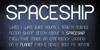CF Spaceship Font text screenshot