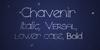 Chavenir Font handwriting typography