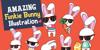 Funky Bunny Font cartoon clip art