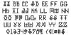 Elder Magic Font Letters Charmap