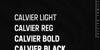 Calvier Font screenshot text