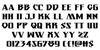 Eternal Knight Regular Font Letters Charmap