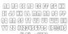 Shogunate Outline Font Letters Charmap