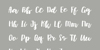 Muscat Font handwriting text
