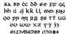 First Order Font Letters Charmap