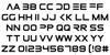 Elemental End Font Letters Charmap