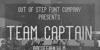 Team Captain Font text poster